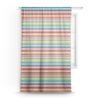 Retro Horizontal Stripes Sheer Curtains (Personalized)