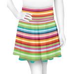 Retro Horizontal Stripes Skater Skirt (Personalized)