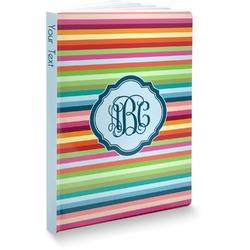 Retro Horizontal Stripes Softbound Notebook (Personalized)