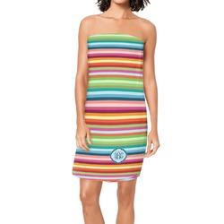 Retro Horizontal Stripes Spa / Bath Wrap (Personalized)
