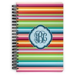 Retro Horizontal Stripes Spiral Bound Notebook (Personalized)