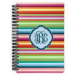 Retro Horizontal Stripes Spiral Bound Notebook (Personalized)