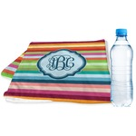 Retro Horizontal Stripes Sports & Fitness Towel (Personalized)