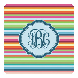 Retro Horizontal Stripes Square Decal - Medium (Personalized)