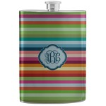 Retro Horizontal Stripes Stainless Steel Flask (Personalized)