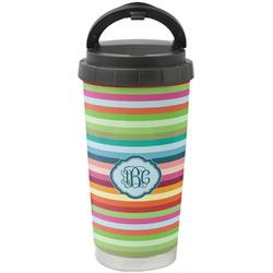 Retro Horizontal Stripes Stainless Steel Travel Mug (Personalized)
