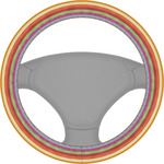 Retro Horizontal Stripes Steering Wheel Cover (Personalized)