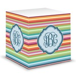 Retro Horizontal Stripes Sticky Note Cube (Personalized)