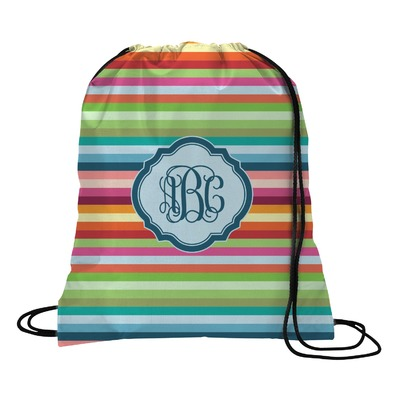 Retro Horizontal Stripes Drawstring Backpack (Personalized)