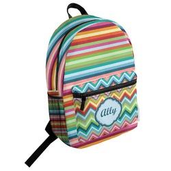Retro Horizontal Stripes Student Backpack (Personalized)