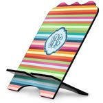Retro Horizontal Stripes Stylized Tablet Stand (Personalized)