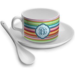 Retro Horizontal Stripes Tea Cups (Personalized)