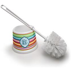 Retro Horizontal Stripes Toilet Brush (Personalized)
