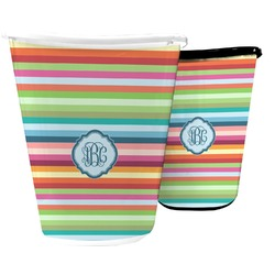 Retro Horizontal Stripes Waste Basket (Personalized)