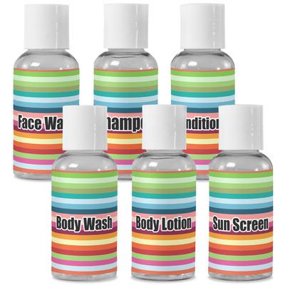Retro Horizontal Stripes Travel Bottles (Personalized)