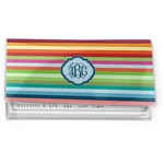 Retro Horizontal Stripes Vinyl Checkbook Cover (Personalized)