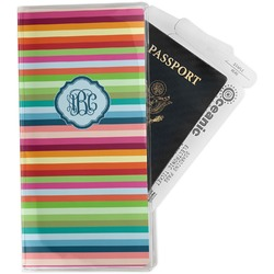 Retro Horizontal Stripes Travel Document Holder