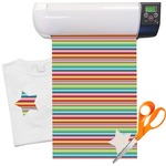 Retro Horizontal Stripes Heat Transfer Vinyl Sheet (12