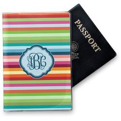 Retro Horizontal Stripes Vinyl Passport Holder (Personalized)
