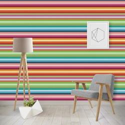 Retro Horizontal Stripes Wallpaper & Surface Covering