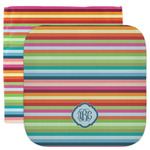 Retro Horizontal Stripes Facecloth / Wash Cloth (Personalized)