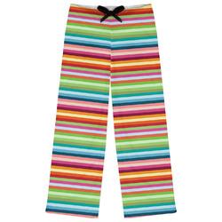 Retro Horizontal Stripes Womens Pajama Pants (Personalized)