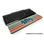 Retro Horizontal Stripes Keyboard Wrist Rest (Personalized)