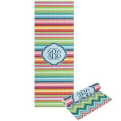 Retro Horizontal Stripes Yoga Mat - Printable Front and Back (Personalized)