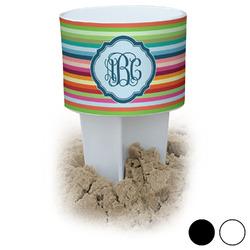 Retro Horizontal Stripes Beach Spiker Drink Holder (Personalized)