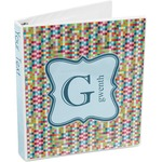 Retro Pixel Squares 3-Ring Binder (Personalized)
