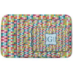 Retro Pixel Squares Area Rug (Personalized)
