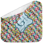 Retro Pixel Squares Baby Hooded Towel (Personalized)