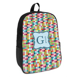 Retro Pixel Squares Kids Backpack (Personalized)