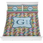 Retro Pixel Squares Comforters (Personalized)