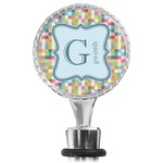 Retro Pixel Squares Wine Bottle Stopper (Personalized)