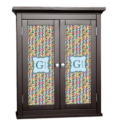 Retro Pixel Squares Cabinet Decal - Custom Size (Personalized)