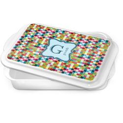 Retro Pixel Squares Cake Pan (Personalized)