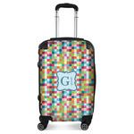 Retro Pixel Squares Suitcase (Personalized)