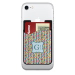 Retro Pixel Squares 2-in-1 Cell Phone Credit Card Holder & Screen Cleaner (Personalized)