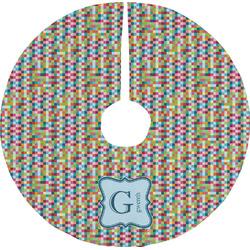 Retro Pixel Squares Tree Skirt (Personalized)