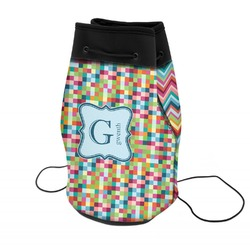 Retro Pixel Squares Neoprene Drawstring Backpack (Personalized)