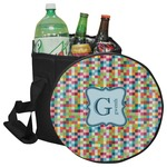 Retro Pixel Squares Collapsible Cooler & Seat (Personalized)