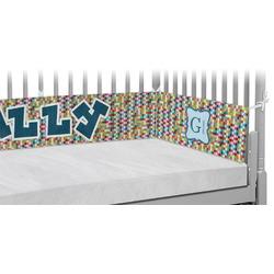 Retro Pixel Squares Crib Bumper Pads (Personalized)