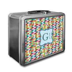 Retro Pixel Squares Lunch Box (Personalized)