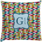 Retro Pixel Squares Decorative Pillow Case (Personalized)