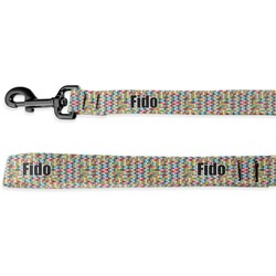 Retro Pixel Squares Deluxe Dog Leash (Personalized)