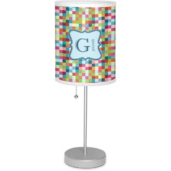 "Retro Pixel Squares 7"" Drum Lamp with Shade (Personalized)"