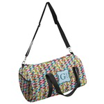 Retro Pixel Squares Duffel Bag (Personalized)