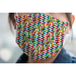 Retro Pixel Squares Face Mask Cover (Personalized)