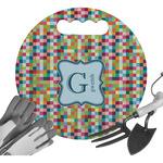 Retro Pixel Squares Gardening Knee Cushion (Personalized)